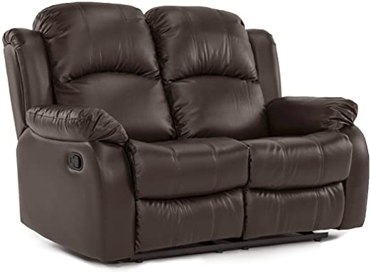 Amazon.com: Classic Loveseat Recliner in Bonded Leather - 2 Seater .