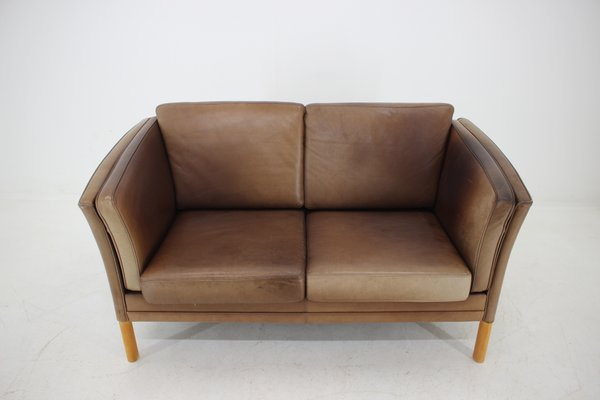 Danish 2-Seater Leather Sofa, 1960s for sale at Pamo