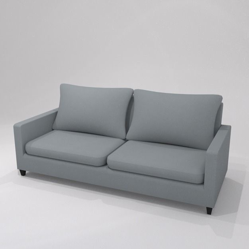 Grey 2 seater sofa h87 w200 d86 3D model | CGTrad