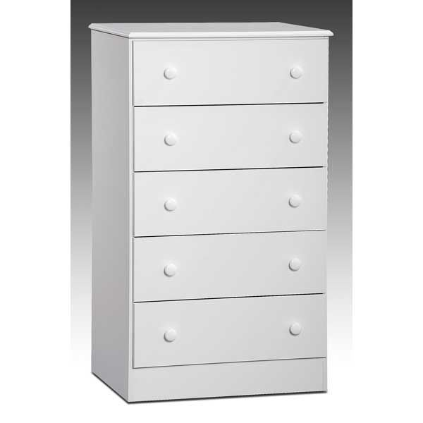 White 5 Drawer Chest Z-193-05 | Kith Furniture 193-05 | AFW.c