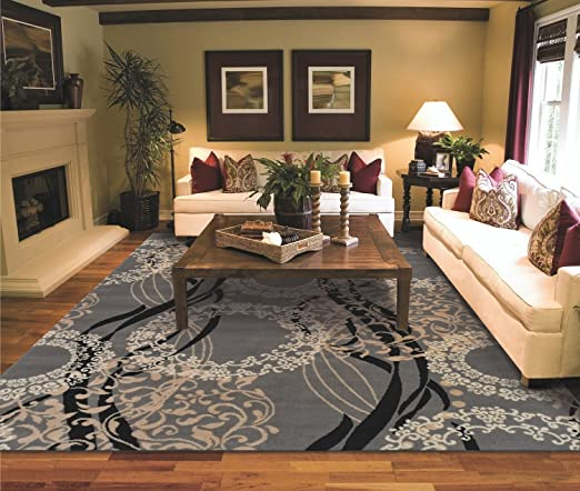Amazon.com: Large Area Rugs for Living Room 8x10 Gray: Home & Kitch