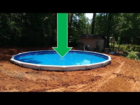 Dropping an Above Ground Pool in the Ground (the details) - YouTu