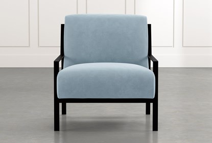 Avery II Light Blue Accent Chair | Living Spac