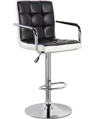 Get This Deal on KERLAND Leather Swivel Adjustable Height Bar .