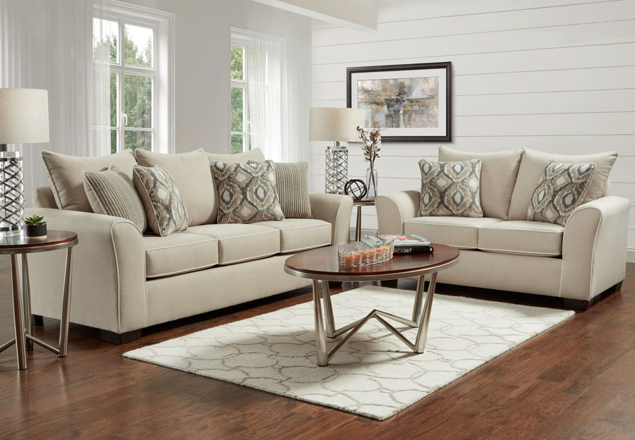 Affordable Furniture Khaki Sofa and Lovese