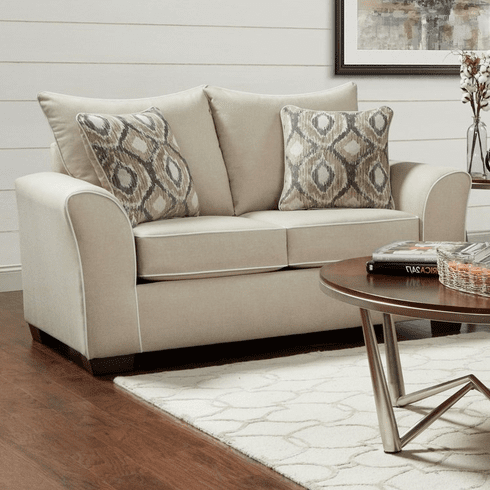 Ashton Khaki Loveseat by Affordable Furnitu