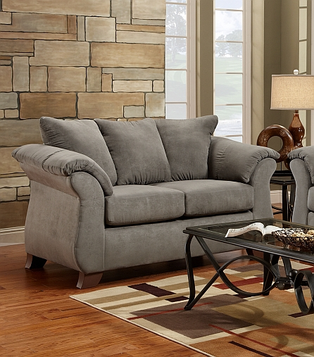 Affordable Furniture 6702 Gray Sensations Loveseat at Sutherlan