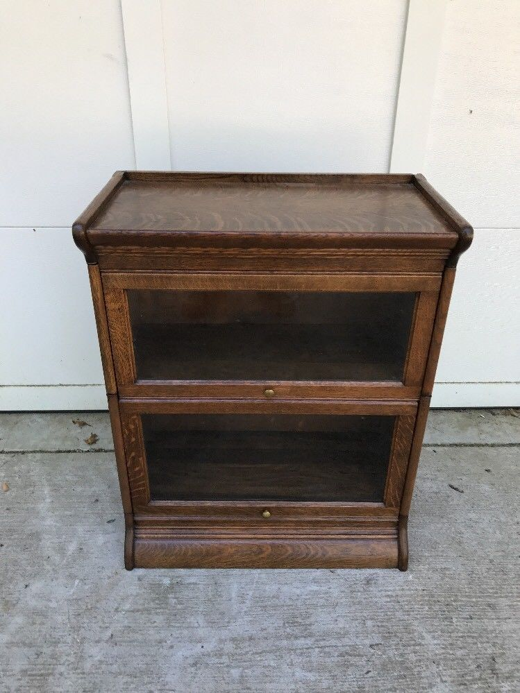 3/4 wide ( 25 inch ) Antique Lawyer / Barrister Bookcase for sale .