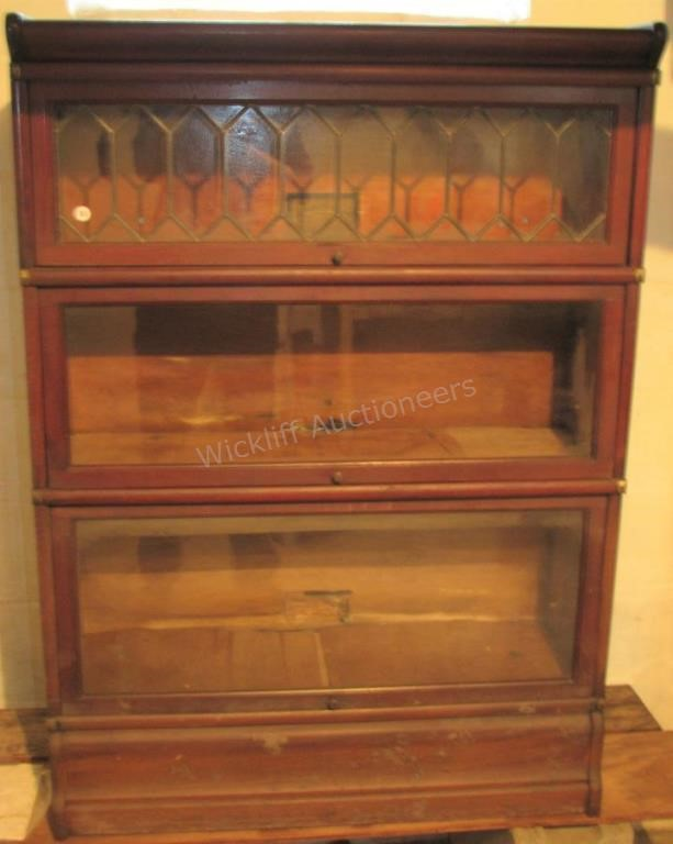 Antique Barrister Bookcase | Wickliff & Associates Auctioneers, In