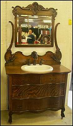 Photo of Front View - Antique Bathroom Vanity: Claw Foot Antique .