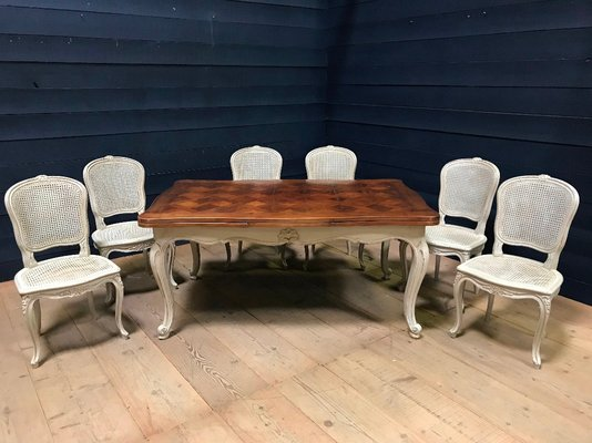 Antique French Walnut Dining Table with Pull Out Leaves for sale .