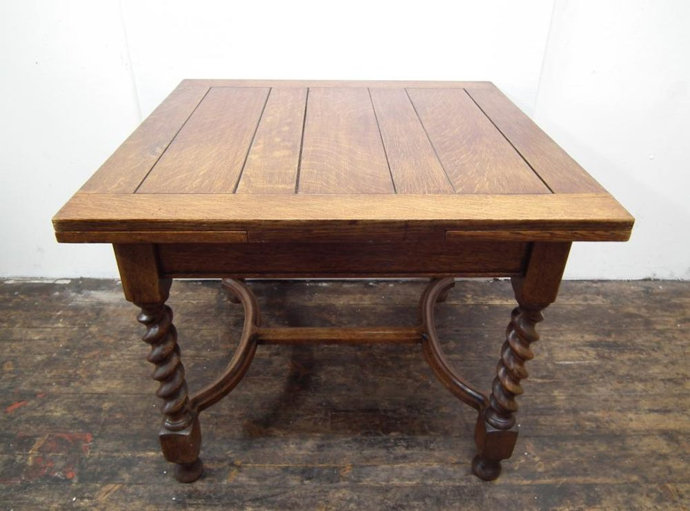 Oak Pull Out Dining Table - Antiques Atl