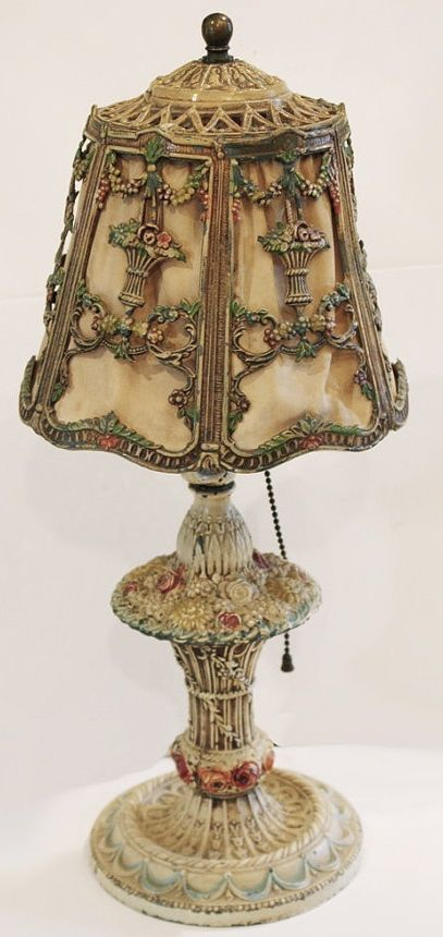 vintage metal lamp ... love these old things! | Antique lamps .