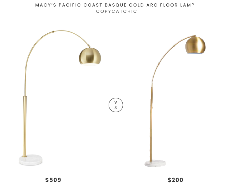 Daily Find   Macy's Basque Gold Arc Floor Lamp - copycatch