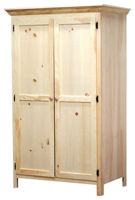 Classic Wardrobe, 26x43x72, Pine Wood - Contemporary - Armoires .