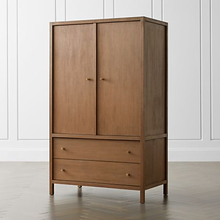 Keane Driftwood Solid Wood Armoire + Reviews   Crate and Barr