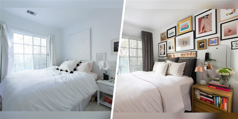 How to make a gallery wall: Bedroom decorating ti