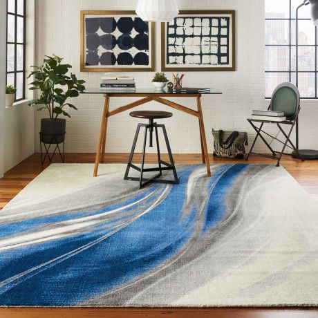 Twilight twi28 ivory grey blue in 2020 | Rugs in living room, Rugs .