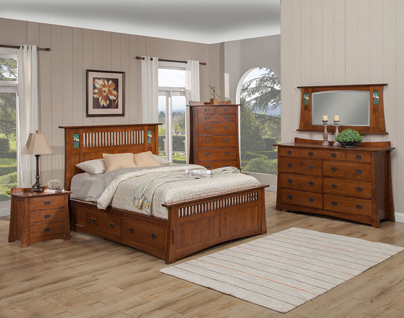 The Trend Manor Arts and Crafts Bungalow Dresser is solid O