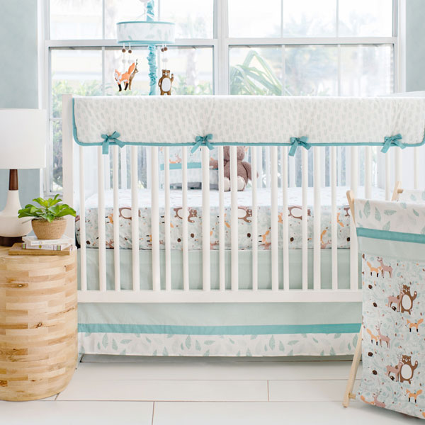 Forest Friends Crib Bedding | Forest Friends Rail Cover Collecti