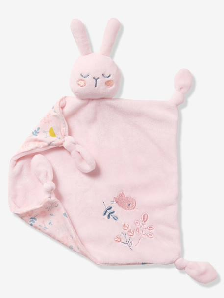 Baby Comforter, Rabbit - pink light solid with design, To