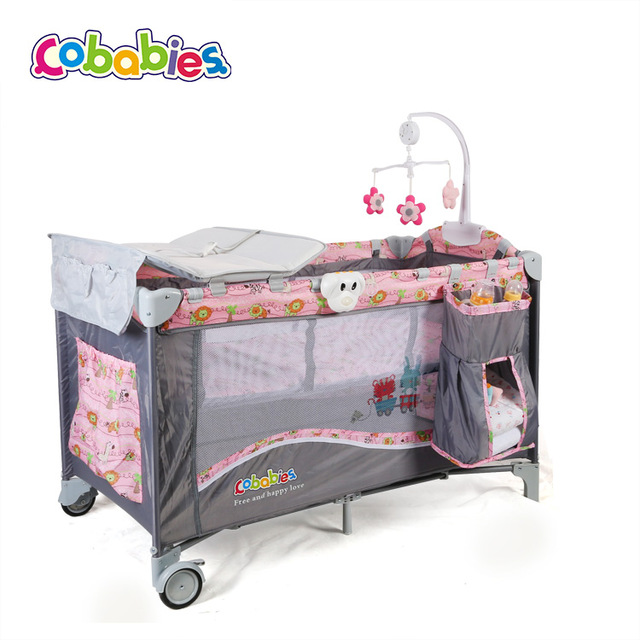 Cobabies Foldable Baby Cots Standard Size Baby Cribs Steel Baby .