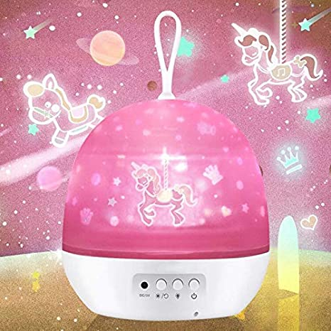 Night Light for Kids, Baby Light Projector, Carousel, Space, Star .