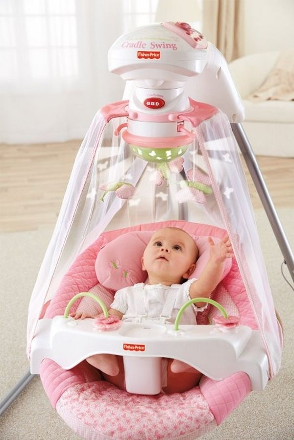 Fisher Price Papasan Baby Cradle Swing Infant Butterfly Garden .