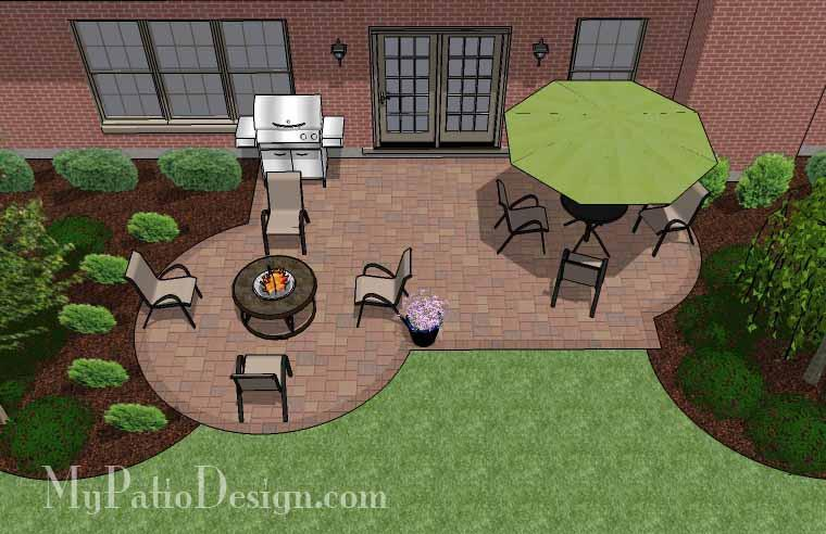 Small Backyard Patio Design | Layouts and Material List .