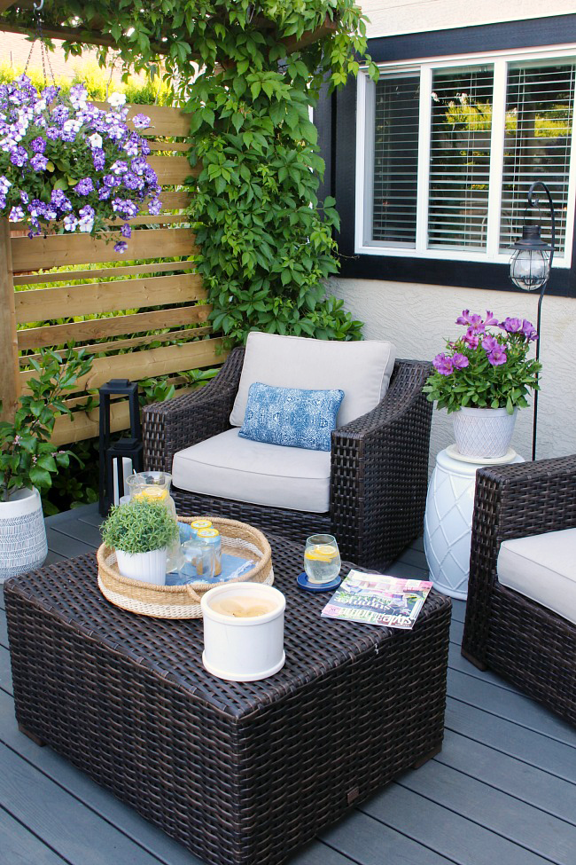 Outdoor Living - Summer Patio Decorating Ideas - Clean and Scentsib