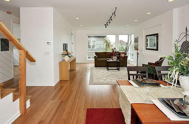 Bamboo Living Room Flooring Images and Ide
