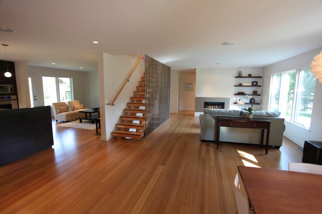 Strand Woven Bamboo Flooring - Contemporary - Living Room - Other .