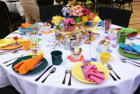 Spring Luncheon {Stage and Table Decoration Ideas} | Table .