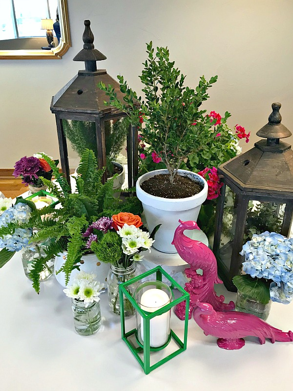 SPRING OR SUMMER BANQUET TABLE CENTERPIECE DECORATIONS - Dimples .