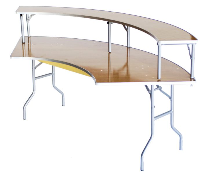 Serpentine Bar Top Riser for Serpentine Banquet Tables, Includes .