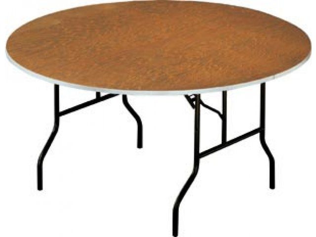 """Plywood Round Banquet Table 72"""", Folding Tabl"""
