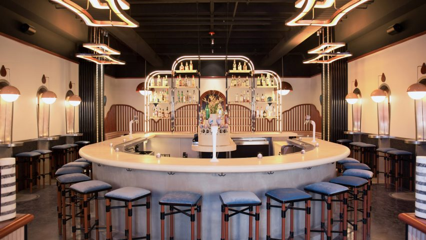 Home Studios designs cinematic cocktail bar in West Hollywo