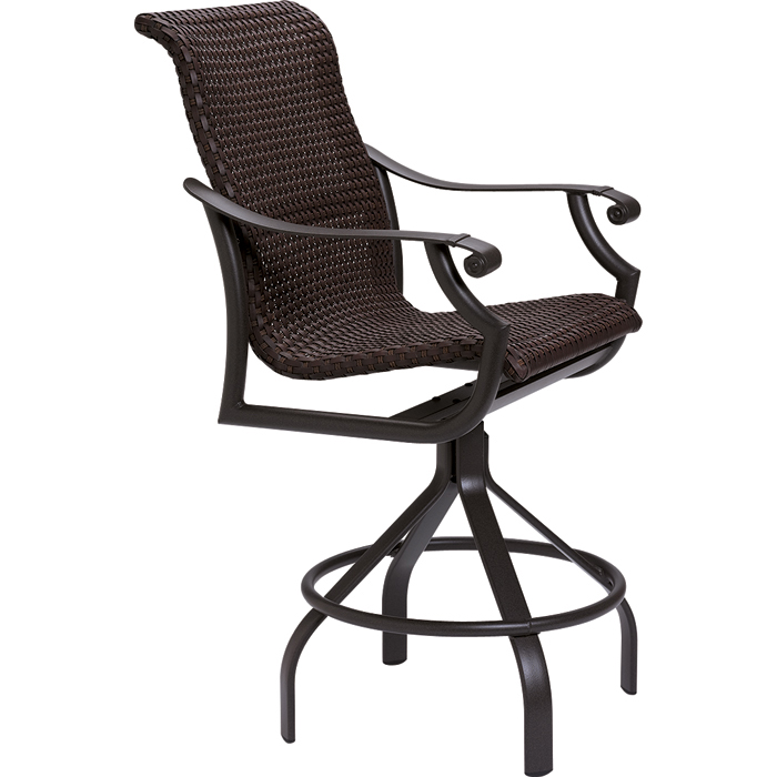 Montreux Woven Swivel Bar Stool | Outdoor Patio Furniture | Tropito