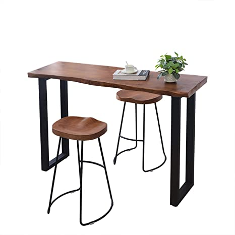 Amazon.com: Bar table Lxn Solid Wood, Against The Wall Home Long .
