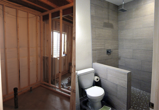 How To Finish A Basement Bathroom - Before and After Pictur