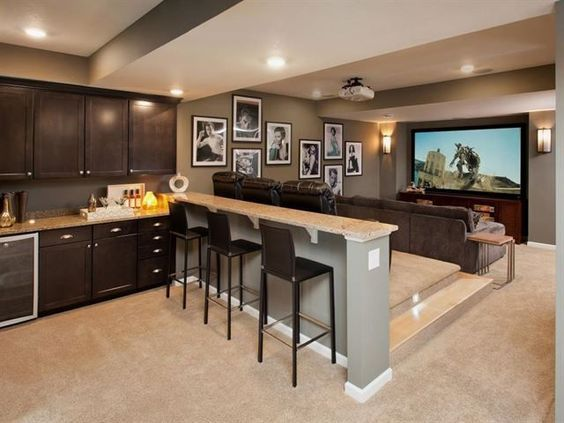 Finished Basement Ideas (Cool Basements)   Home theater rooms .