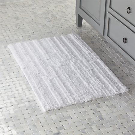 Crosley White Reversible Bath Rug 2'x3' + Reviews   Crate and Barr