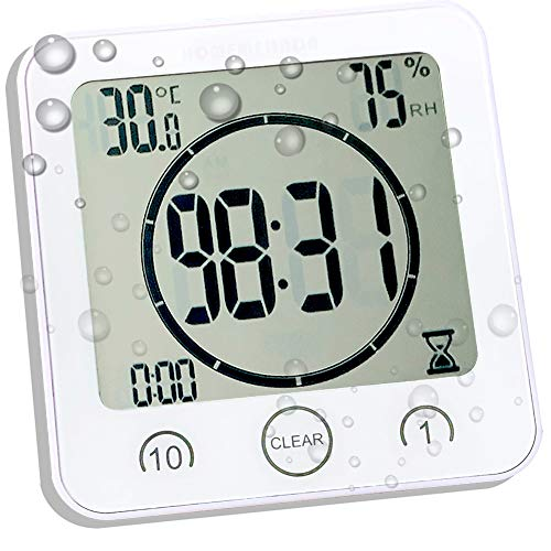 Amazon.com: Waterproof Bathroom Clock and Timer for Shower .