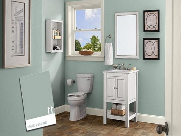 Beautiful Small Bathroom Paint Colors For Small Bathrooms With No .