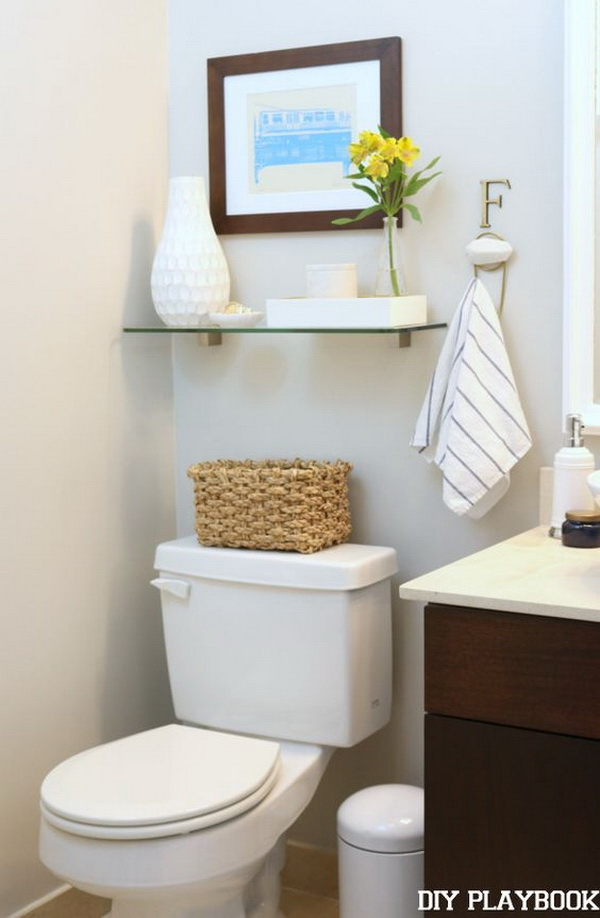 Awesome Over The Toilet Storage & Organization Ideas - Listing Mo
