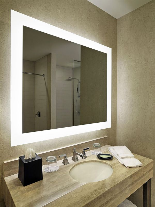 Hilton hotel project bathroom mirror with 3000/6000K LED light .