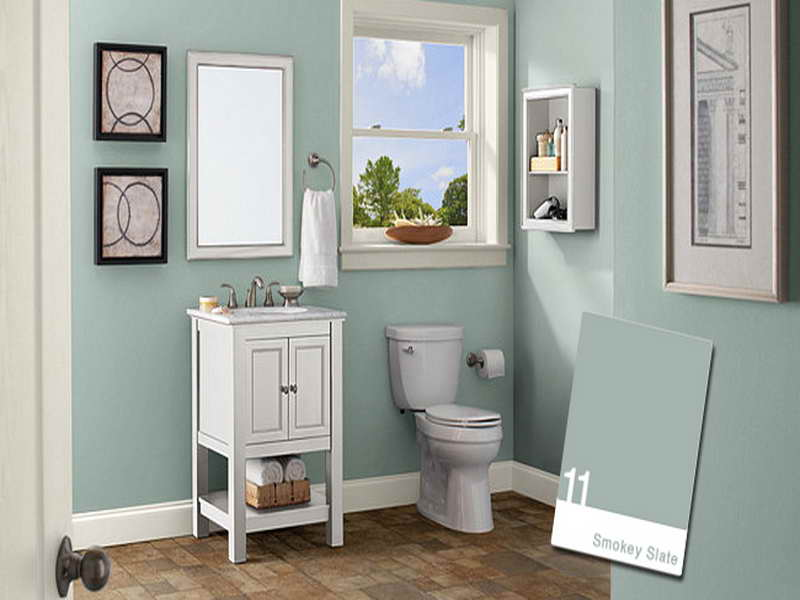 Bathroom color schemes for small bathrooms - large and beautiful .
