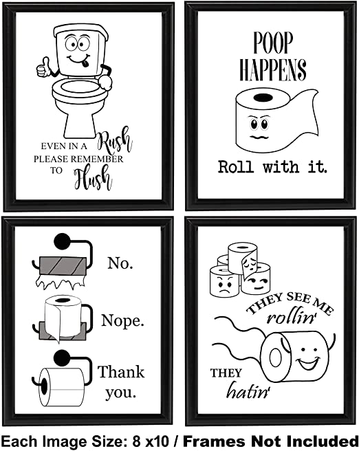 Amazon.com: Funny Bathroom Quotes and Art: Posters & Prin