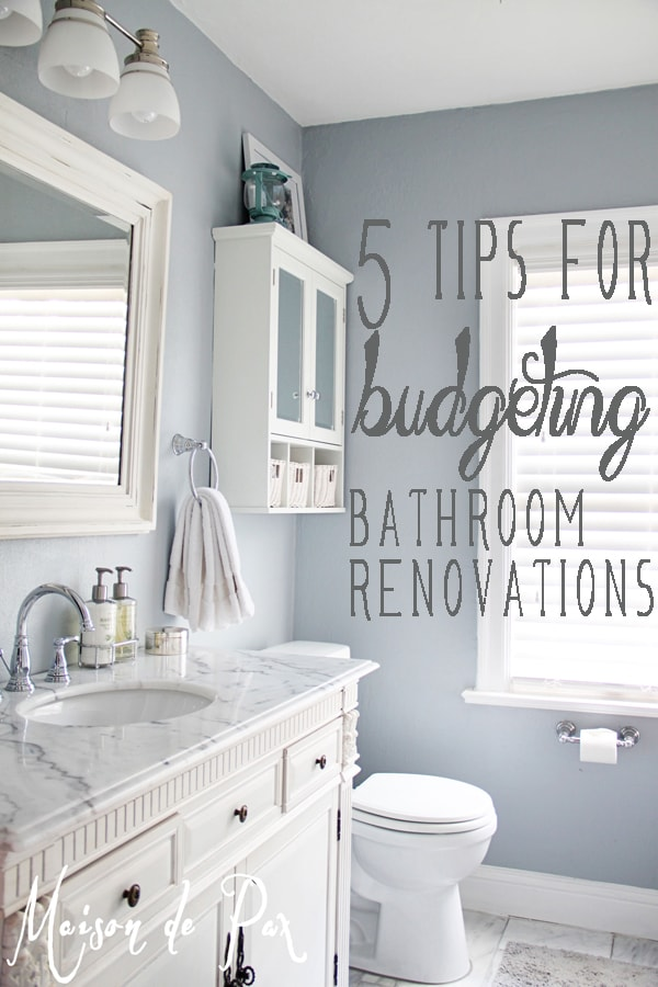 Bathroom Renovations Budget Ti