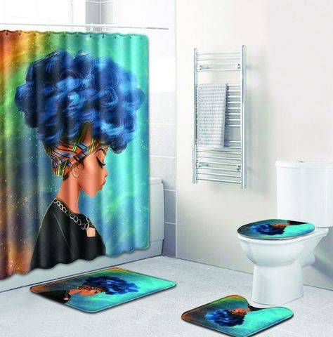 Details about African Queen Bathroom Fashion Shower Curtain Toilet .